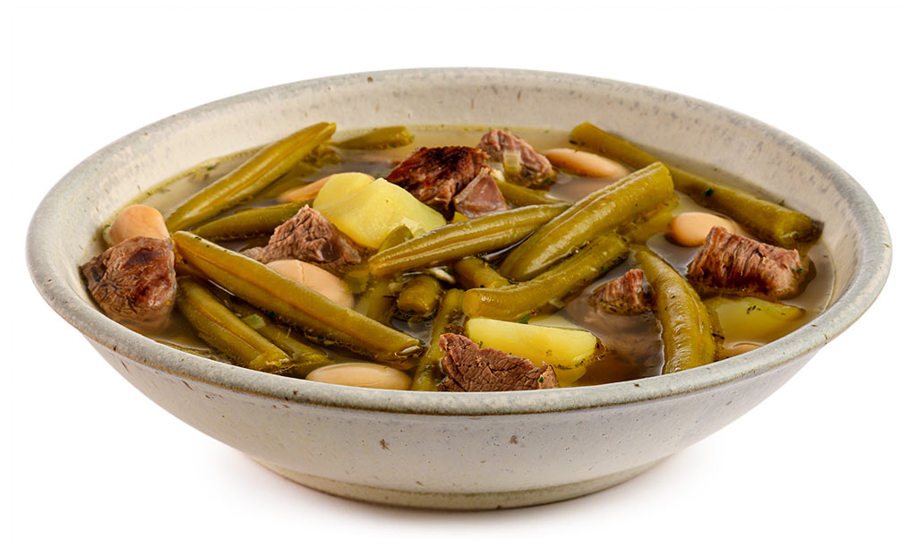 Beans stew with soups meat