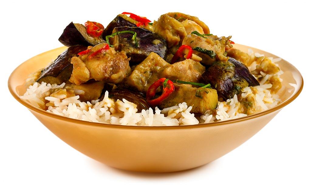 rezept drucken thai chicken curry mit aubergine. Black Bedroom Furniture Sets. Home Design Ideas