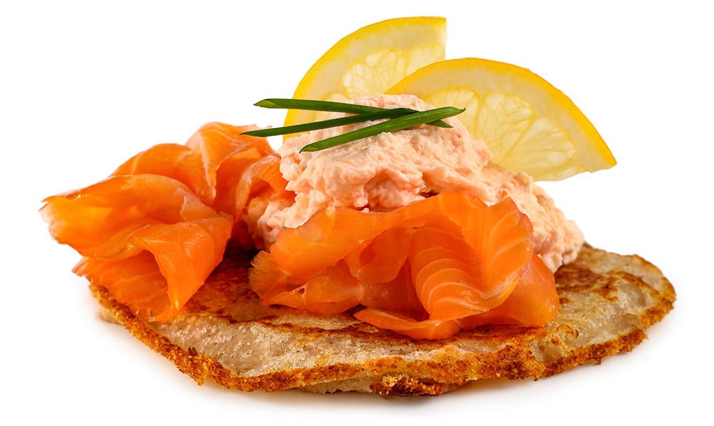 Blinis with salmon