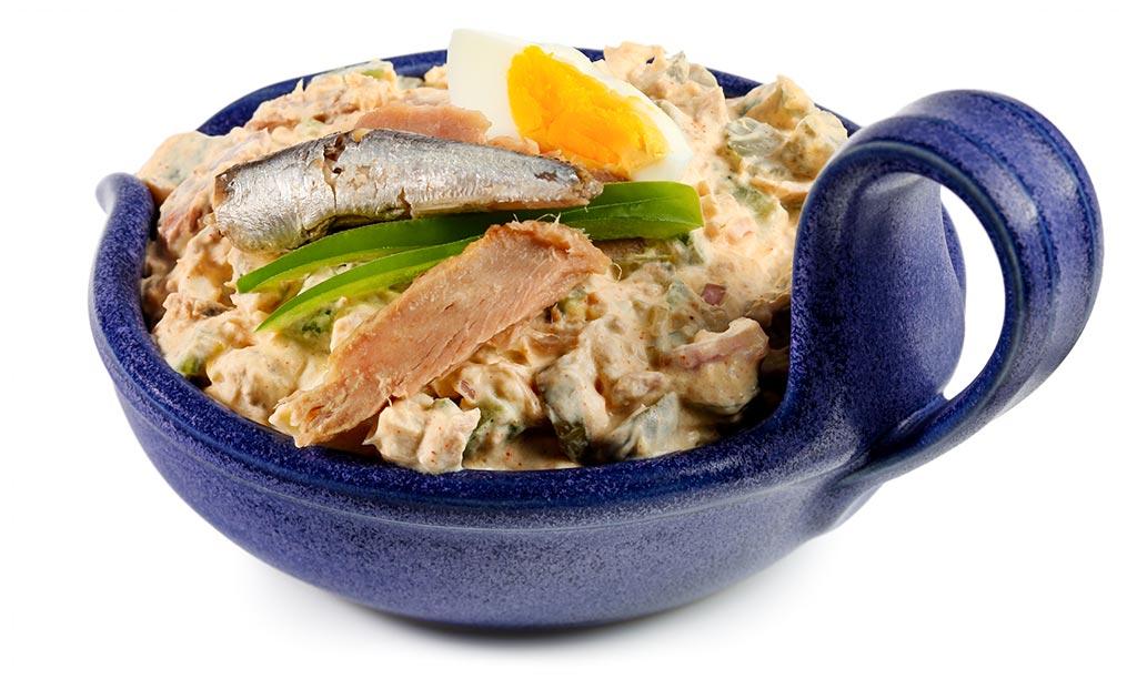 Rezept drucken thunfisch salat mit anchovis - Eier hart kochen dauer ...