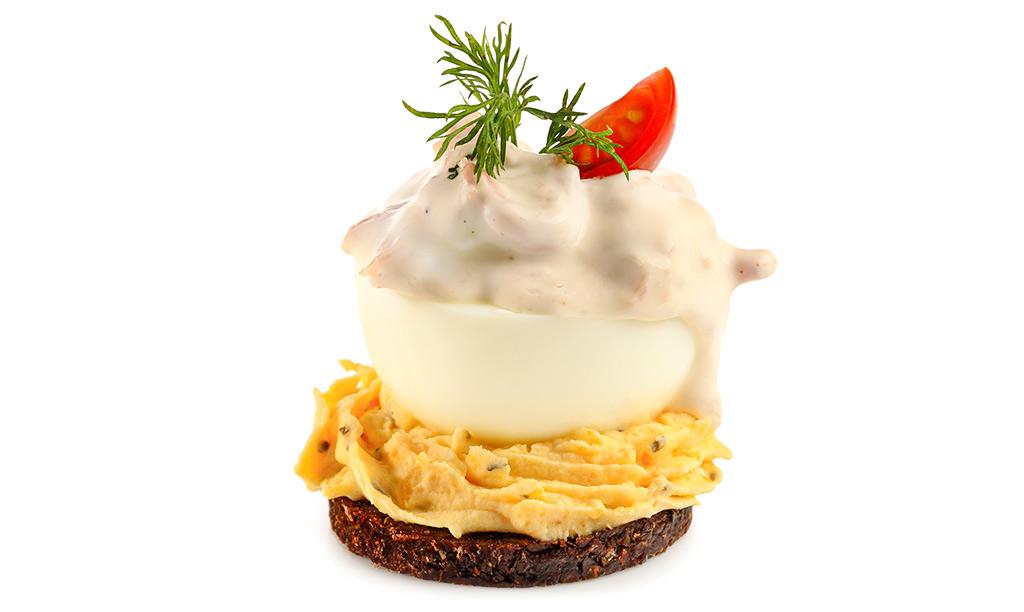 Rezept drucken gef llte eier auf pumpernickel - Eier kochen dauer ...