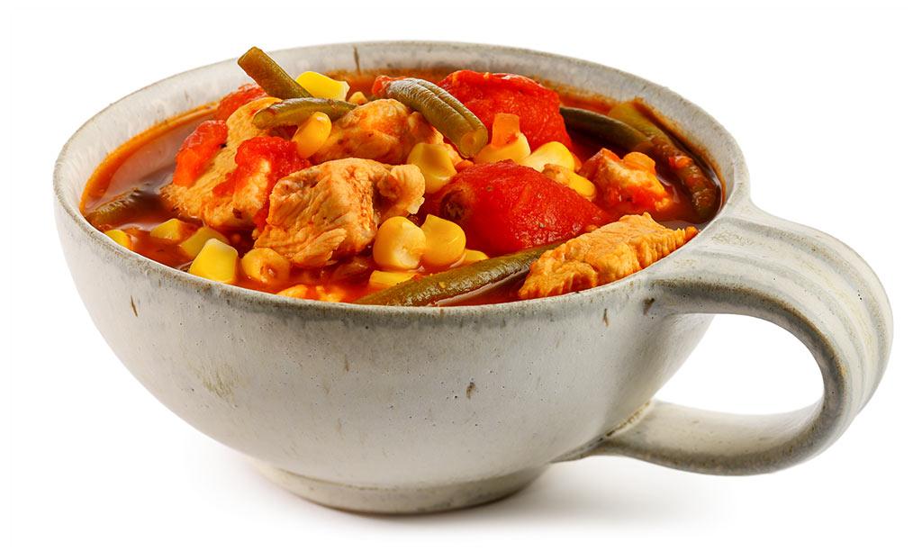 Bean stew with chicken breast