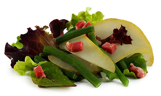 Bean salad with pears