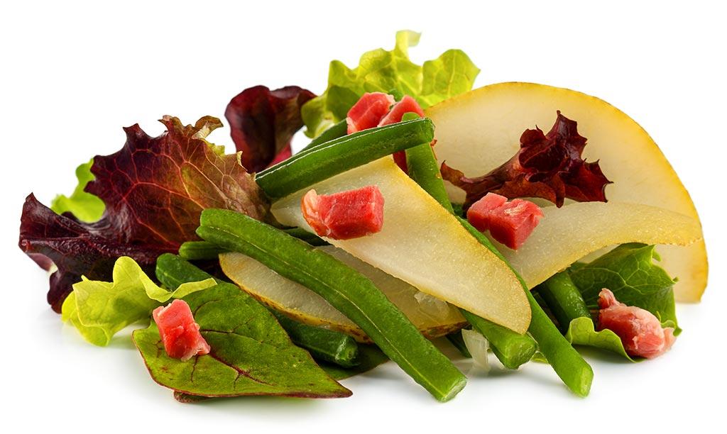 rezept drucken bohnen salat mit birnen. Black Bedroom Furniture Sets. Home Design Ideas