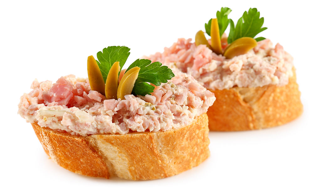 Canapes with ham godfather