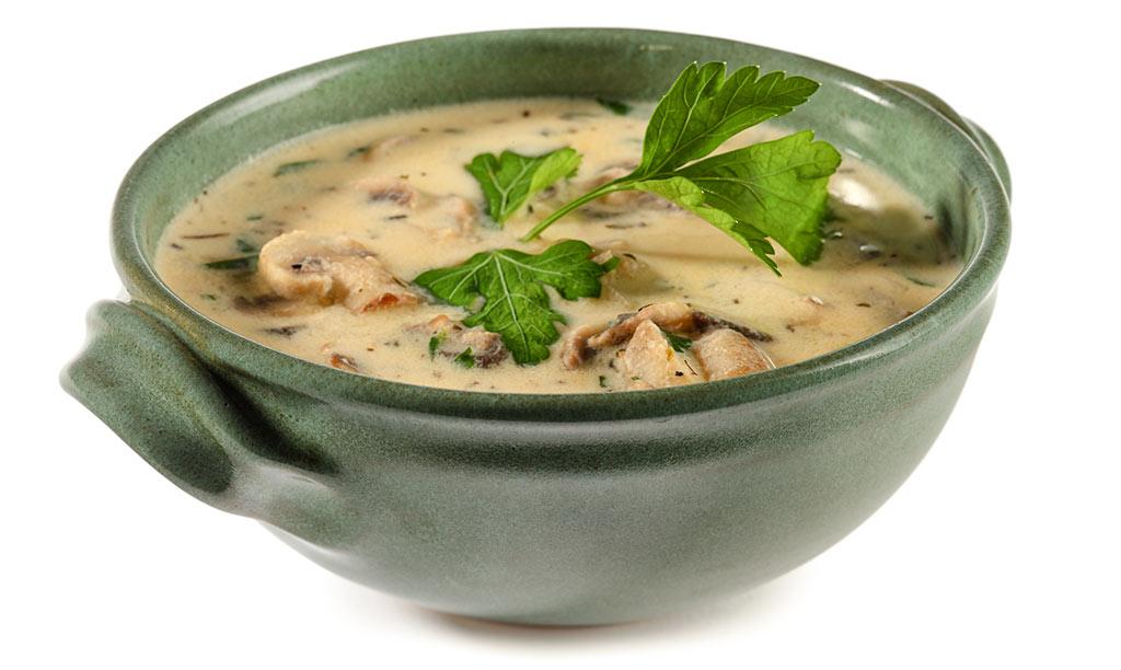 champignon suppe mit wei wein rezept. Black Bedroom Furniture Sets. Home Design Ideas