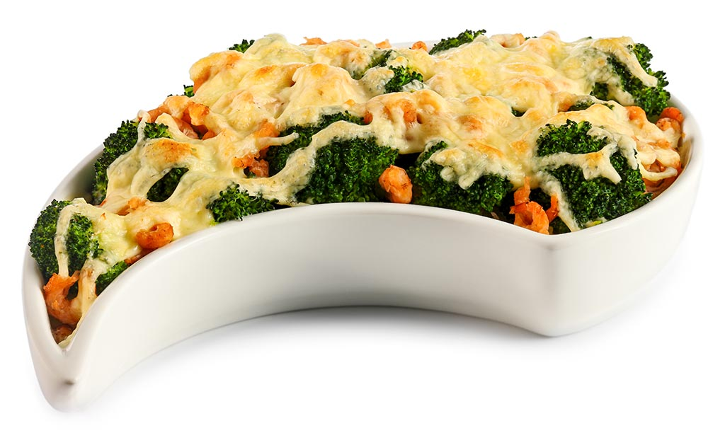 Potato casserole with prawns