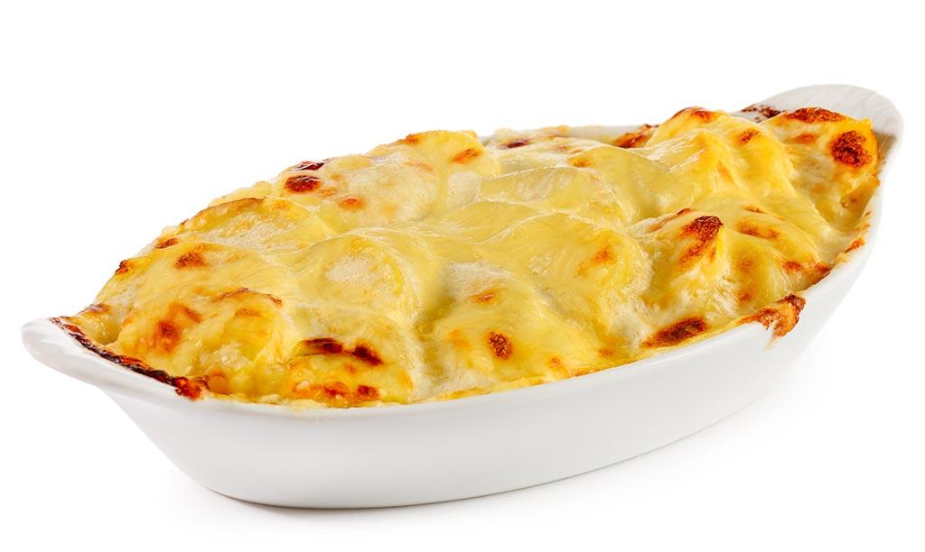 Potato gratin side dish
