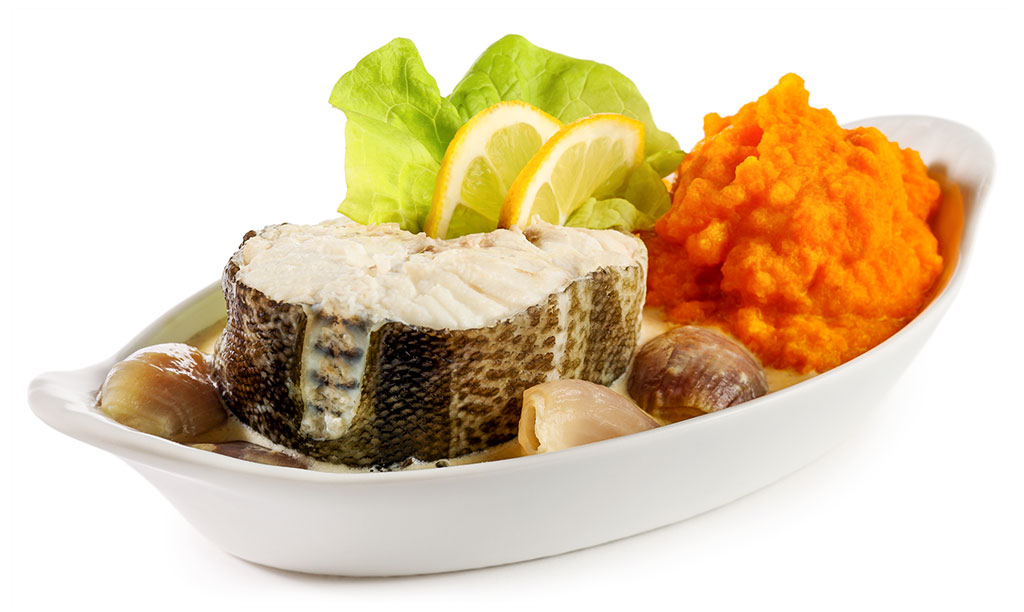 Cod with carrot cream