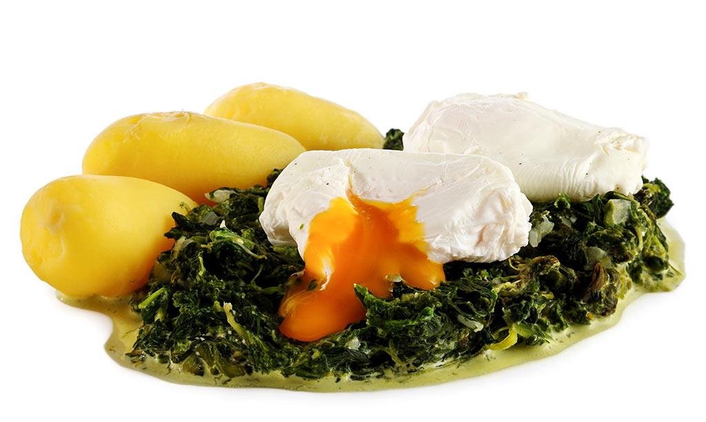 Rezept drucken verlorene eier auf spinat - Eier kochen dauer ...