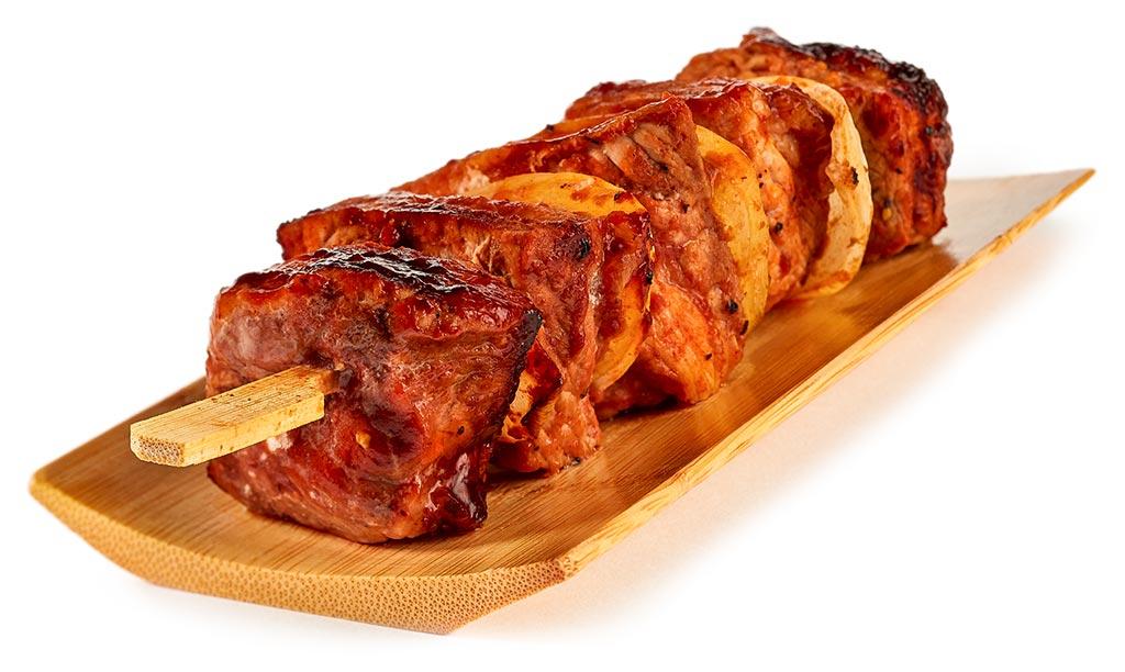 Shashlik in BBQ marinade