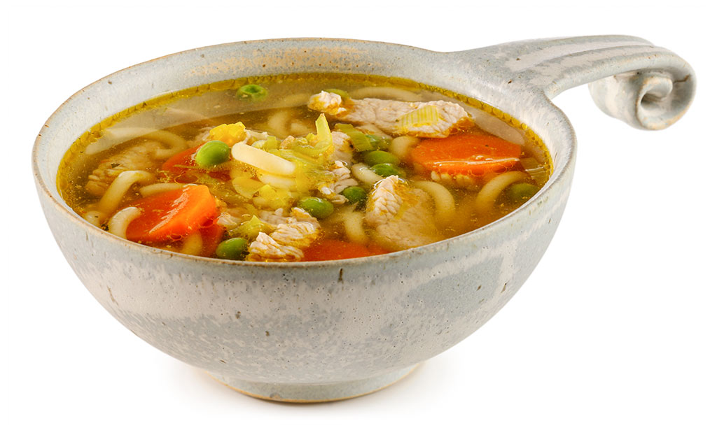 Noodle soup with turkey meat