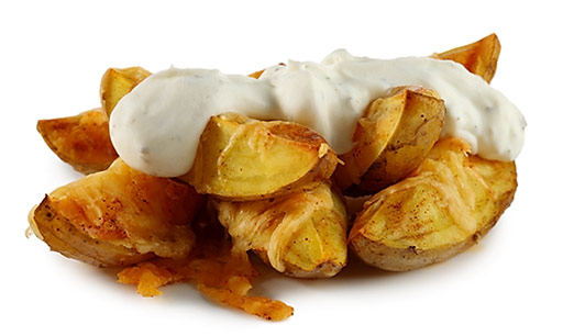 Country potatoes with sour cream
