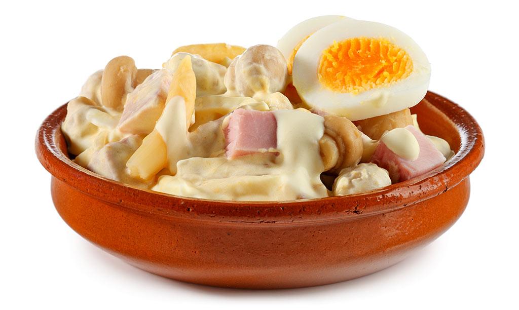 Rezept drucken eier salat mit back schinken - Eier hart kochen dauer ...
