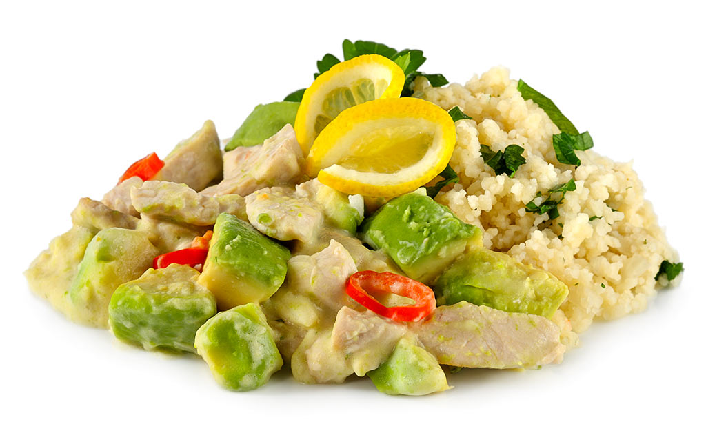 Turkey sliced with couscous