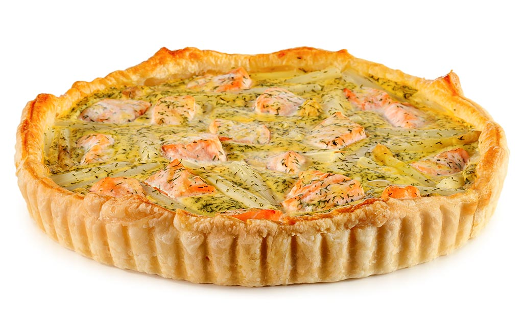 Asparagus tart with salmon