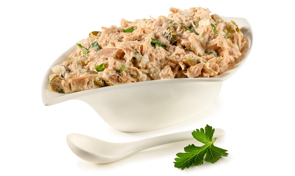 Bread spread with tuna fish