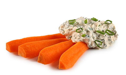 Carrots with dip