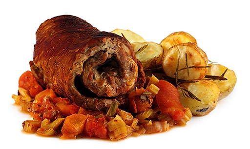 Beef roulades with rosemary potatoes
