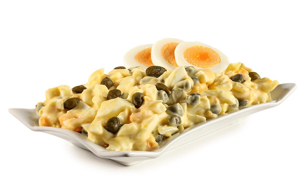 Rezept drucken eier salat mit kapern mayonnaise - Eier hart kochen dauer ...