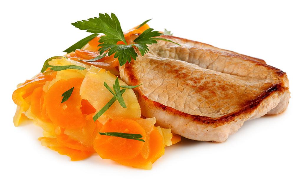 Butterfly Steak & Kohlrabi Vegetables