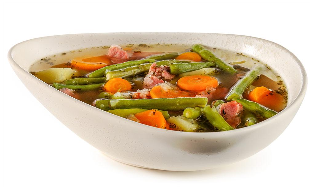 Bean stew with Kassler