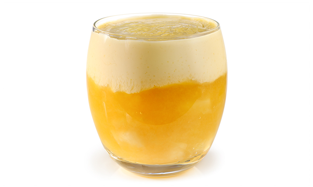 Apple groats with eggs liqueur