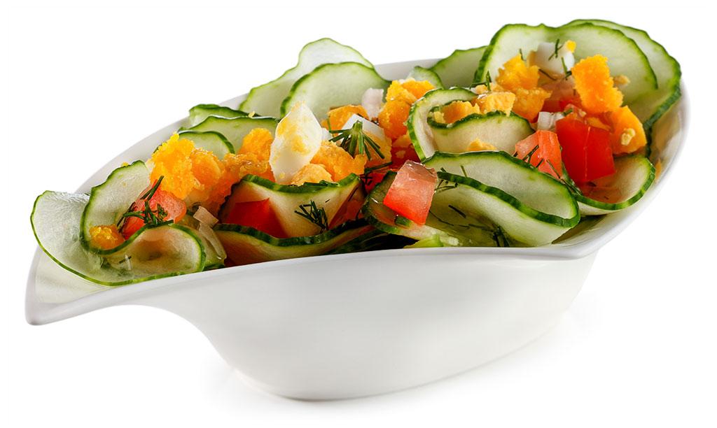 Rezept drucken gurken salat mit gehacktem ei - Eier hart kochen dauer ...