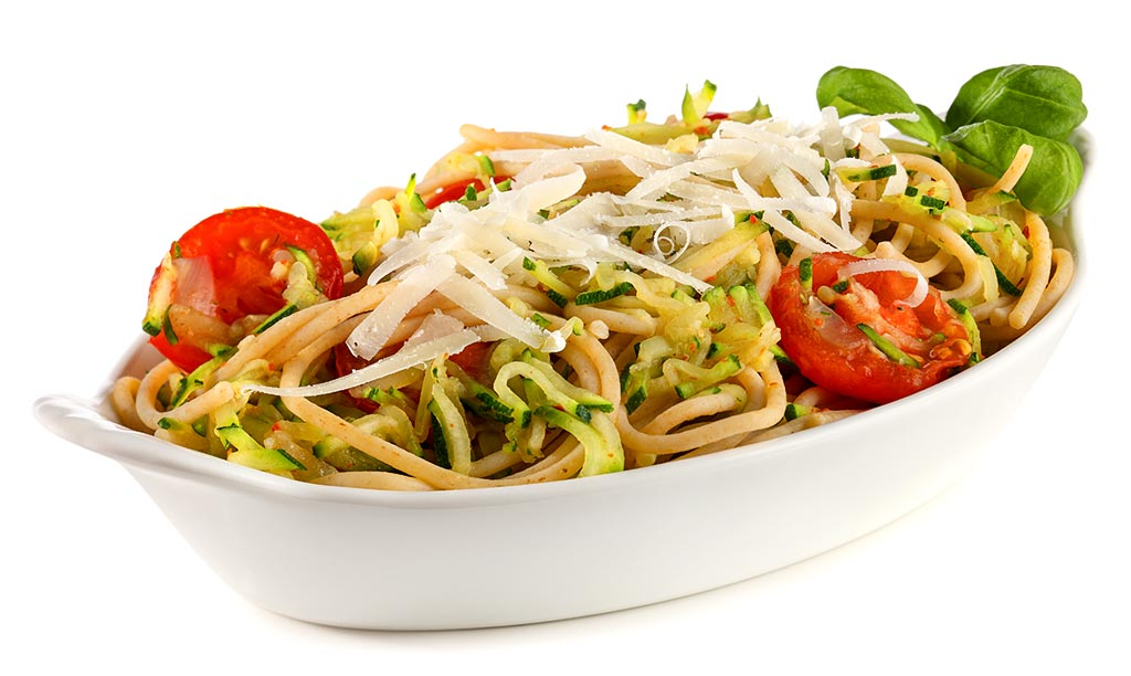 Wholemeal spaghetti with zucchini