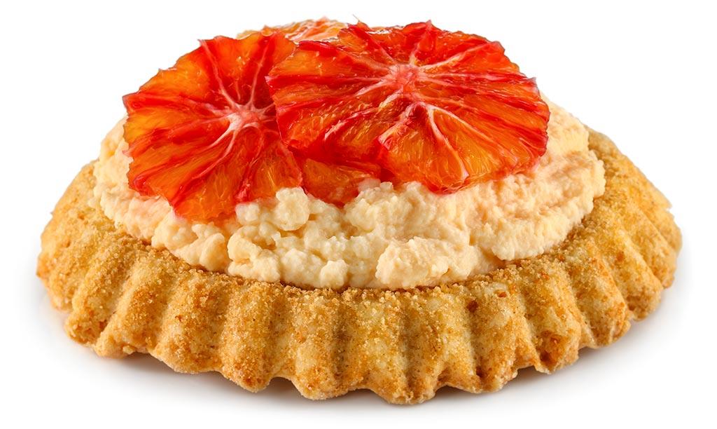 Tartlet with orange cream