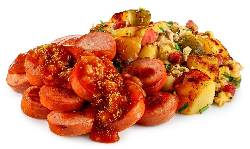 Curry sausage with poplar