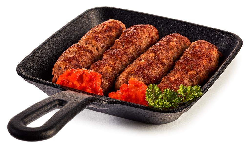 Cevapcici minced meat rolls