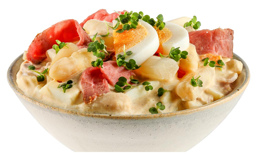 Rezept drucken eier salat mit spargel - Eier hart kochen zeit ...
