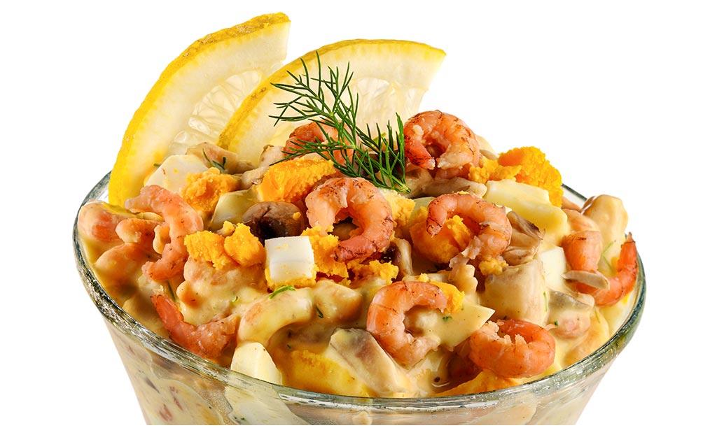 Rezept drucken krabben salat mit ei - Eier hart kochen zeit ...