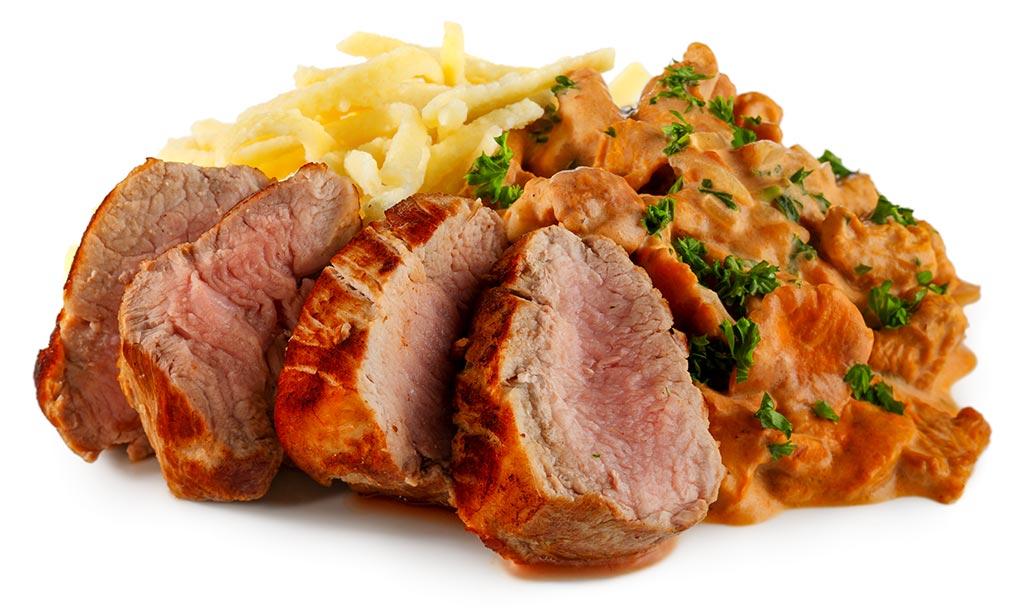 Pork fillet with hunter Spätzle