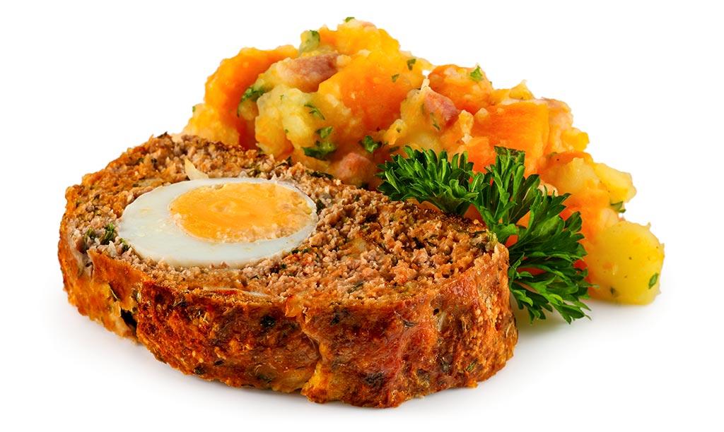 Rezept drucken falscher hase mit m hren - Eier hart kochen dauer ...