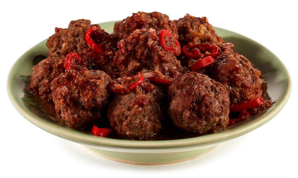 Albondigas minced meat balls