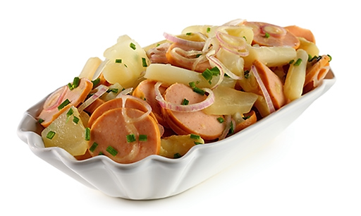 Asparagus sausage salad