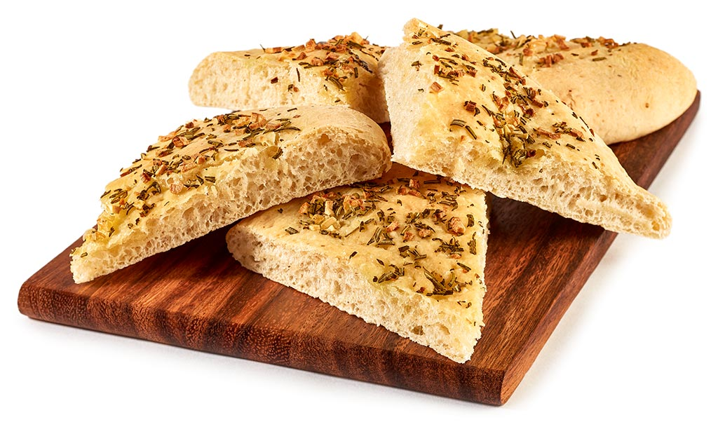 Pizza bread with garlic