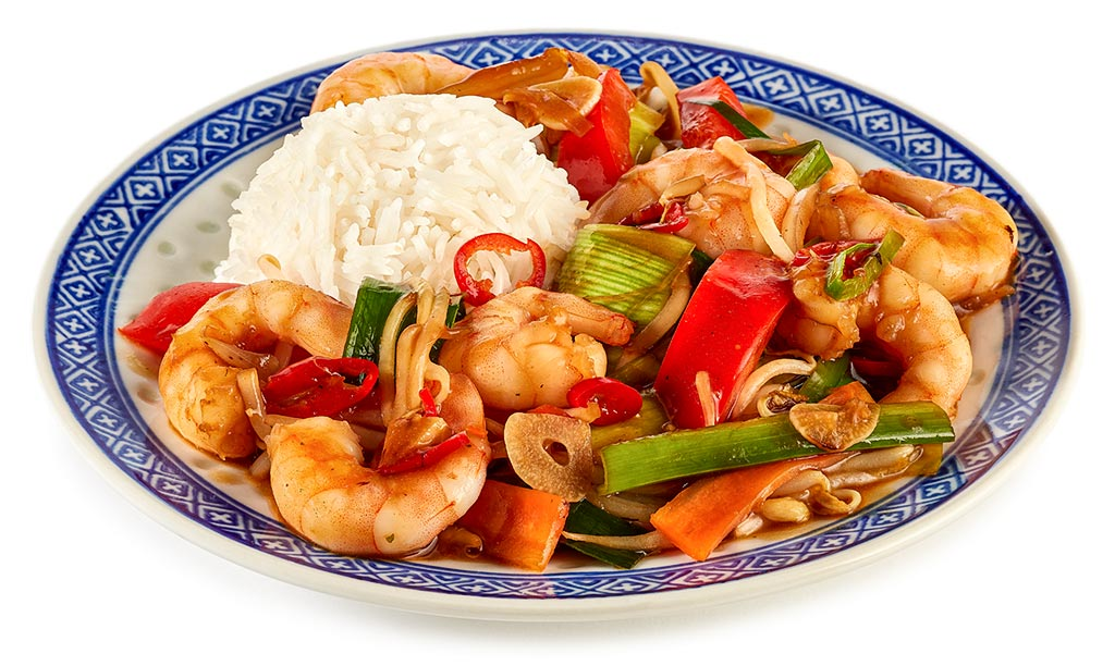 Chop Suey with prawns