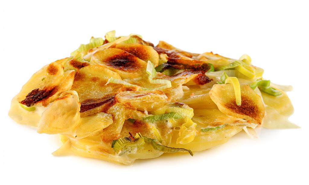 Leek Potato Gratin