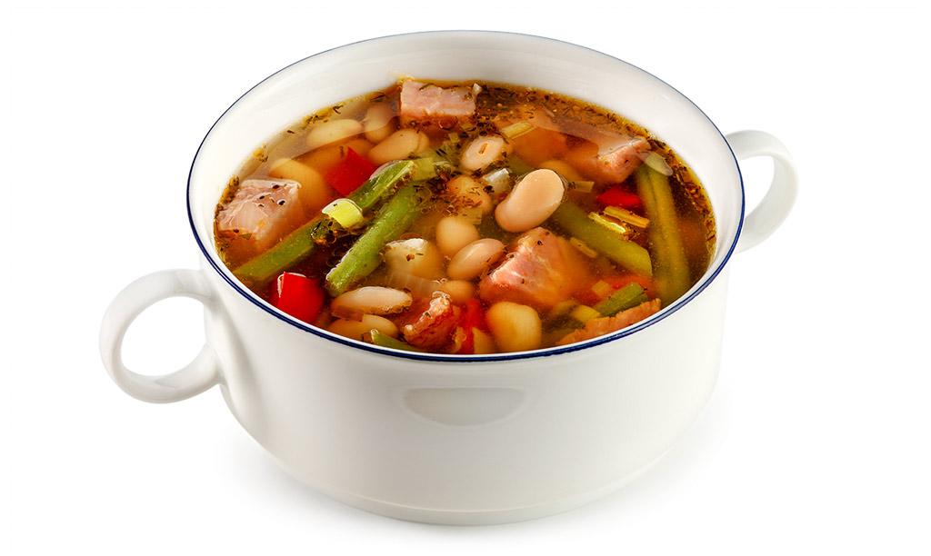 Bean soup with Kassler