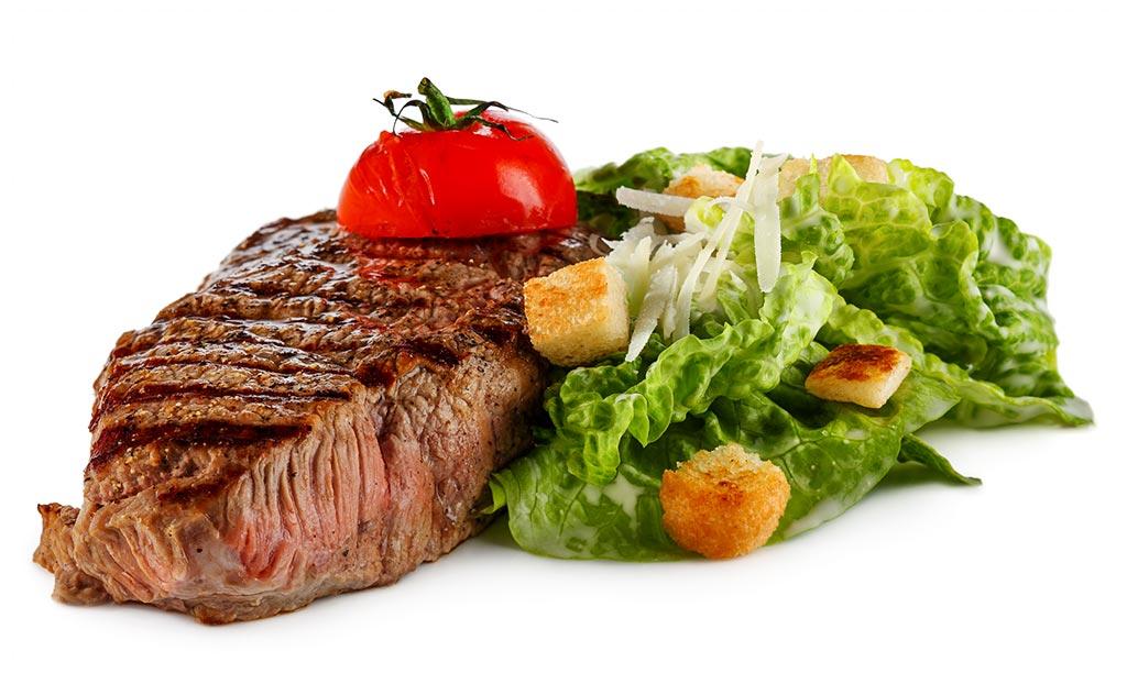 Beef Steak & Caesar Salad
