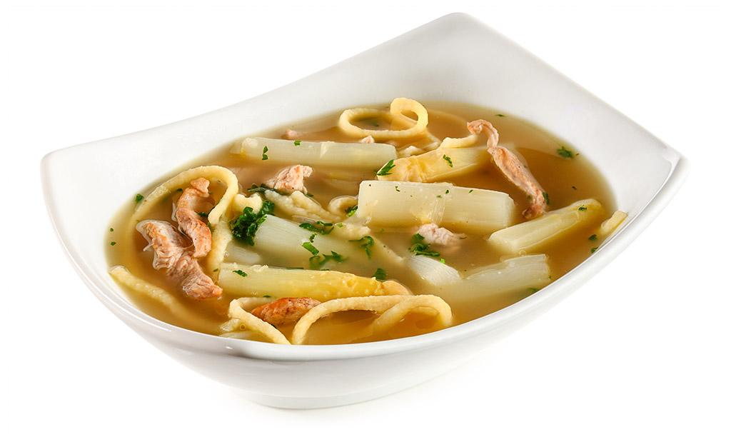 Asparagus noodle soup