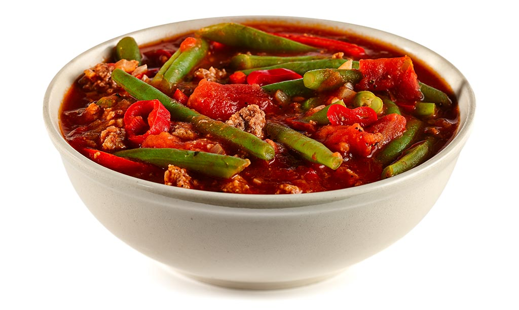 Beans soup with minced meat