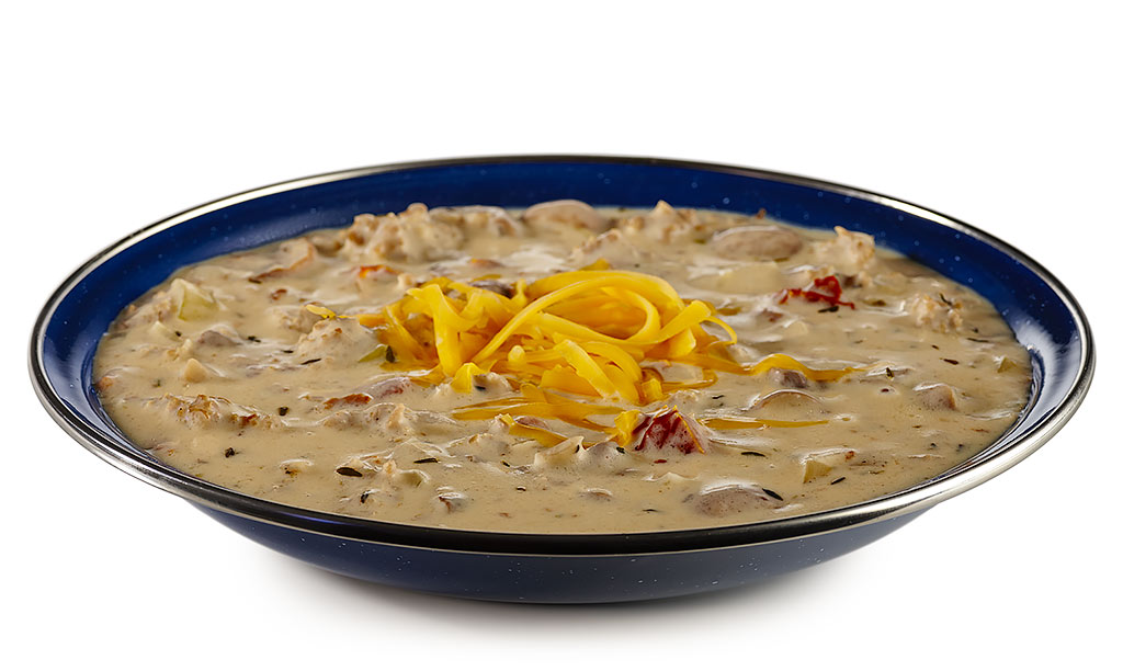Cheese soup with minced meat