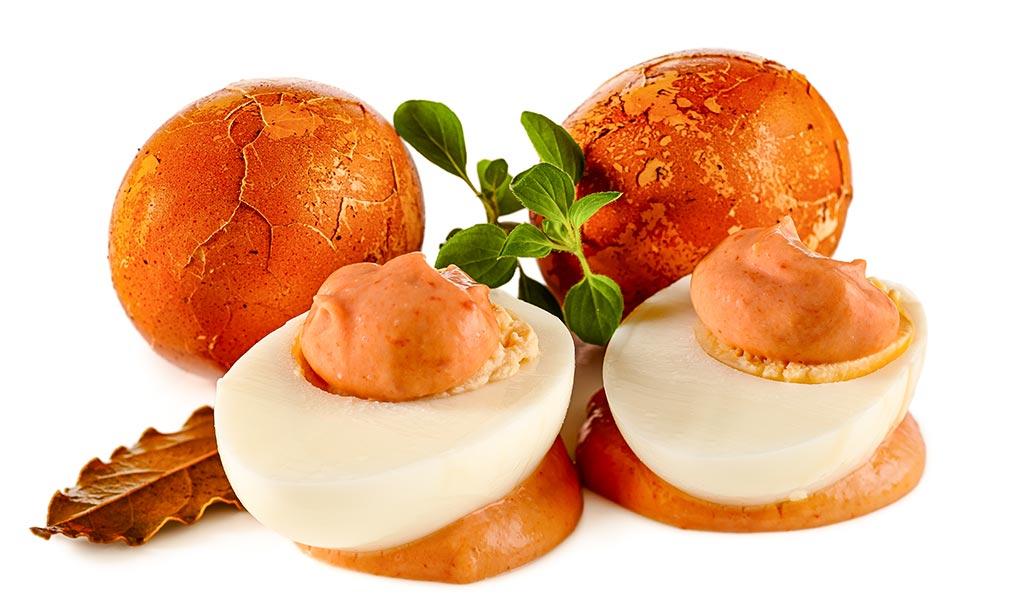 Rezept drucken sol eier mit cocktail sauce - Eier hart kochen dauer ...