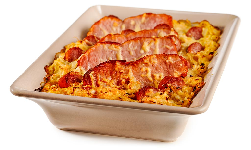 Casserole with meat