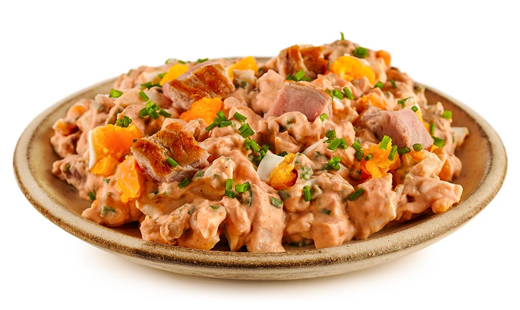 Rezept drucken eier salat mit schweine filet - Eier hart kochen dauer ...