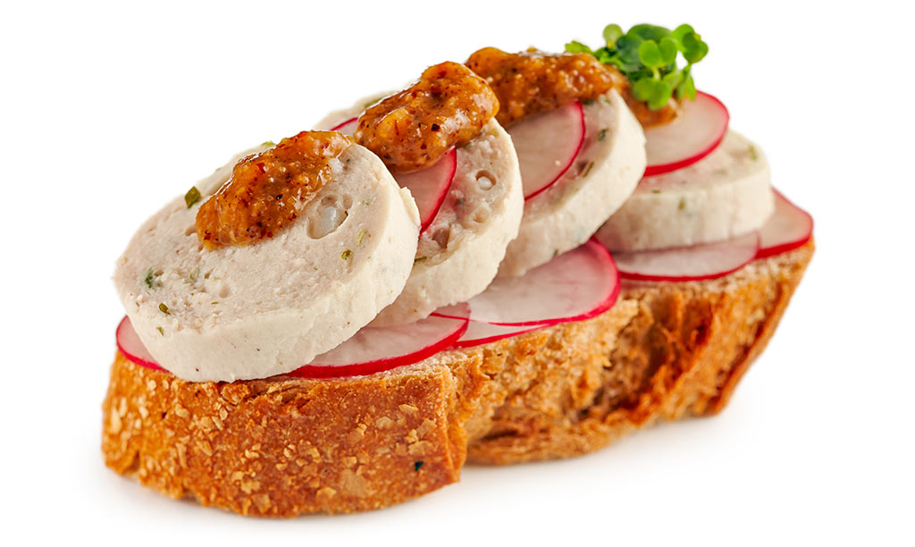 White Sausage Canapes